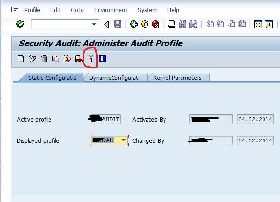 SAP Security Audit Log 3-2