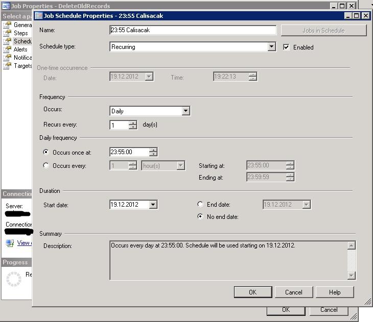 how to run oracle scheduler job
